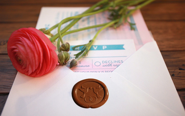 Свадебная сургучная печать